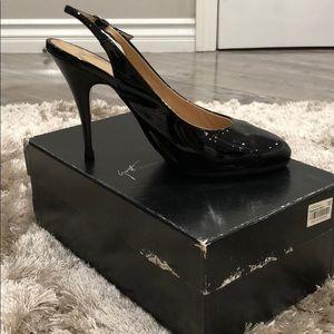 Giuseppe Zanotti Black Patent Leather strap heel
